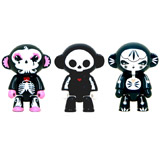 2.5-INCH QEE SKELANIMALS ARTIST SERIES 1 SINGLE FIGURE