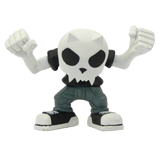 4-INCH DEVIL TOYER BLACK T-SHIRT BOBBLE HEAD