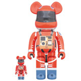 BE@RBRICK 400% 2001 A SPACE ODYSSEY SPACE SUIT RED 2-PACK