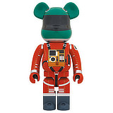 BE@RBRICK 1000% 2001 A SPACE ODYSSEY SPACE SUIT RED GREEN