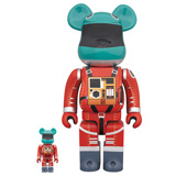 BE@RBRICK 400% 2001 A SPACE ODYSSEY SPACE SUIT RED GREEN 2-PACK