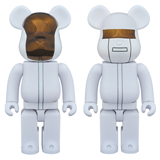 BE@RBRICK 400% DAFT PUNK WHITE SUIT 2-PACK