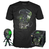 POP! & TEE BOX ALIEN 40TH XENOMORPH BLOODY L
