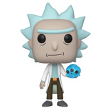 POP! ANIMATION RICK AND MORTY RICK W/ CRYSTAL SKULL