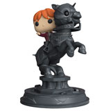 POP! HARRY POTTER RON RIDING A CHESS PIECE DAMAGED BOX