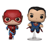 POP! HEROES JUSTICE LEAGUE THE FLASH & SUPERMAN 2-PACK