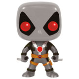 POP! MARVEL DEADPOOL TWO SWORDS GREY BOBBLE HEAD