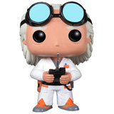 POP! MOVIES BACK TO THE FUTURE DR. EMMETT BROWN DAMAGED BOX