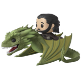 POP! RIDES GAME OF THRONES JON SNOW AND RHAEGAL