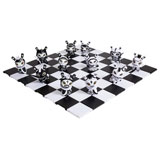 3-INCH DUNNY SHAH MAT SERIES FULL CHESS SET