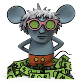 KEITH HARING ANDY MOUSE VINYL FIGURE