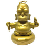 KIDROBOT X THE SIMPSONS 3-INCH HOMER BUDDHA GOLD