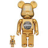 BE@RBRICK 400% ATMOS GOLD CHROME 2-PACK