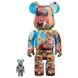 BE@RBRICK 400% JEAN-MICHEL BASQUIAT #6 2-PACK