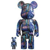 BE@RBRICK 400% JEAN-MICHEL BASQUIAT #7 2-PACK