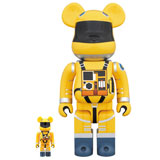 BE@RBRICK 400% 2001 A SPACE ODYSSEY SPACE SUIT YELLOW 2-PACK