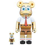 BE@RBRICK 400% SPONGEBOB GOLD CHROME 2-PACK