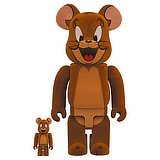 BE@RBRICK 400% TOM AND JERRY JERRY FLOCKED 2-PACK
