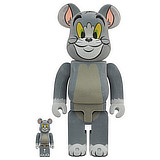 BE@RBRICK 400% TOM AND JERRY TOM FLOCKED 2-PACK