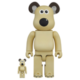 BE@RBRICK 400% WALLACE & GROMIT GROMIT 2-PACK