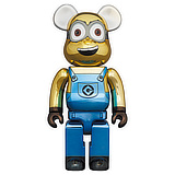 BE@RBRICK 1000% MINIONS DAVE CHROME VERSION