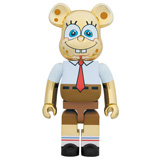 BE@RBRICK 1000% SPONGEBOB GOLD CHROME