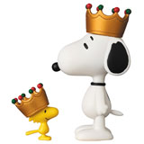 UDF PEANUTS CROWN SNOOPY & WOODSTOCK SET