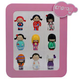 MOMIJI DOLLS RANDOMS 2008 SET OF 9 DOLLS W/ DISPLAY