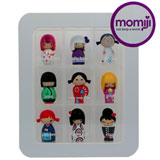 MOMIJI DOLLS RANDOMS 2009 SET OF 9 DOLLS W/ DISPLAY